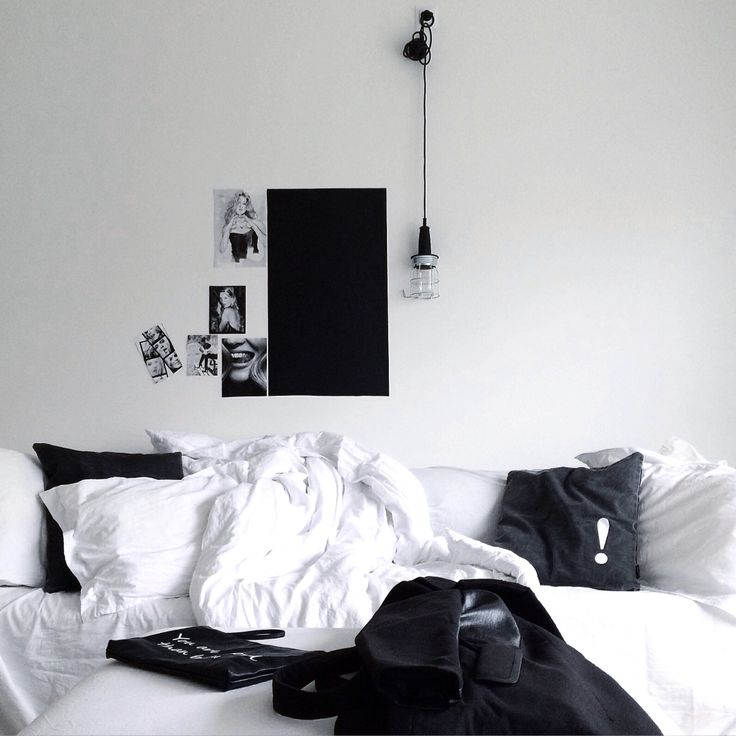 Black and white living room - my home - feels like a coat day