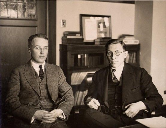April 15, 1923: Extracted insulin becomes available as a treatment for diabetes. Before this, children with diabetes were placed in large hospital wards to die. During trials, Dr Frederick Banting and Charles Best (shown above) injected an entire wardful of children with insulin. By the time they injected the last child, the first had begun to wake from their comas.