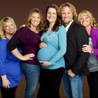 Sister Wives-Kody, Meri, Janelle, Christine and Robyn Brown.