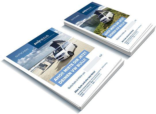 Geschenkidee | Ahoi Bullis - VW T5 California Bullis mieten ab 95 Euro pro Tag. Gutschein PDF zum selber ausdrucken und Betrag eintragen. Für 20 Euro pro Tag kann man SUP Board mitmieten.