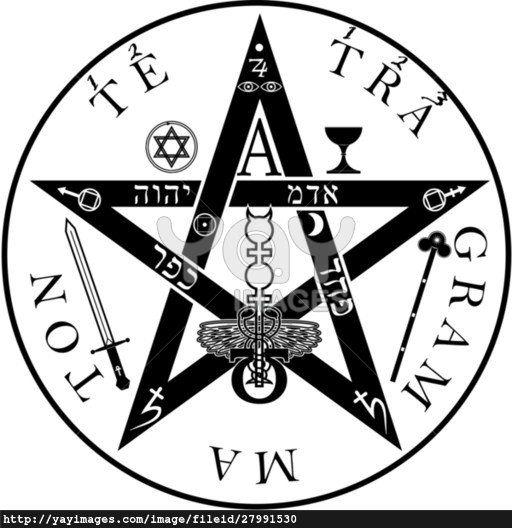 The ancient symbol. Tetragrammaton - ineffable name of God