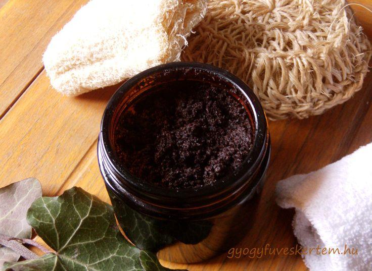 narancsbőr elleni kávés bőrradír