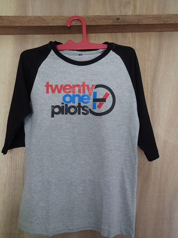 twenty one pilots shirt logo basic unisex raglan sml josh dun tyler joseph grey #unbranded #raglanbaseball