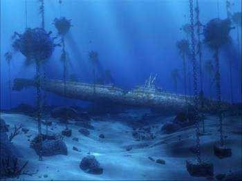 Tetra Disney Aquarium Background - Sunken Submarine | fish ...