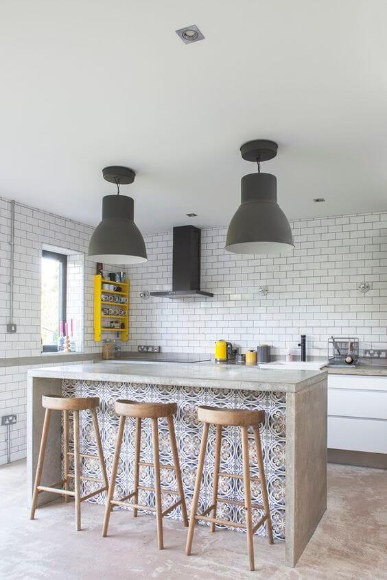 papel de parede para cozinha azulejo estampado