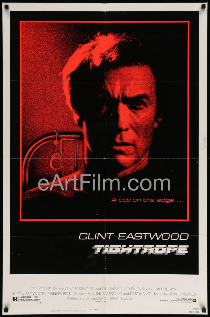Now available in our store: Tightrope-Clint E... See for yourself! http://eartfilm.com/products/tightrope-clint-eastwood-genevieve-bujold-dan-hedaya-alison-eastwood-1984-27x41?utm_campaign=social_autopilot&utm_source=pin&utm_medium=pin