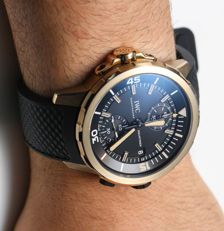 IWC Aquatimer Chronograph Charles Darwin Watch In Bronze Hands-On | aBlogtoWatch