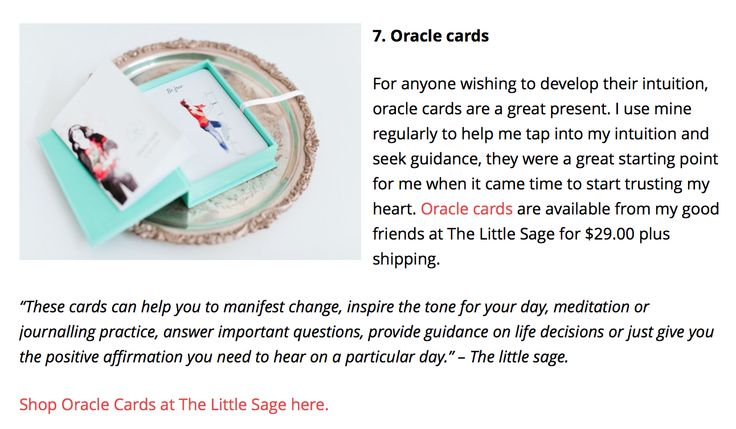 Our oracle cards were featured in LittleGreyBox's Affordable Christmas Gift Guide for 2014 - thank you! Shop our cards here: http://shop.thelittlesage.com/oracle-cards/the-little-sage-oracle-cards Read more here: http://littlegreybox.net/2014/12/16/affordable-christmas-gift-guide-for-travel-lovers-free-spirits/