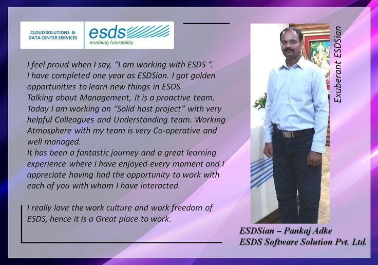 Meet Exuberant ESDSian – Pankaj Adke  #Success #EmployeeSatisfaction #JobSatisfaction