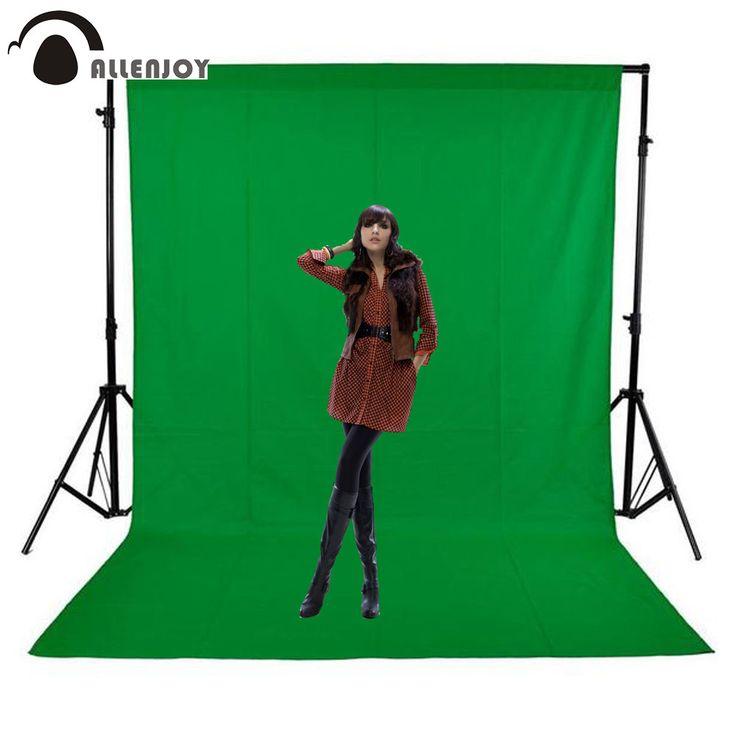 Allenjoy photography backdrops Green screen hromakey background chromakey non-woven fabric Professional for Photo Studio