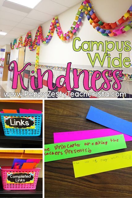 Promote kindness in the classroom daily! Simple and colorful idea for classroom management!