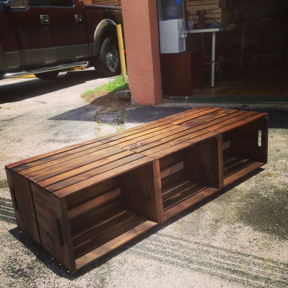 6 Wine Crate Coffee Table - Rustic Coffee Table on Etsy, $249.99