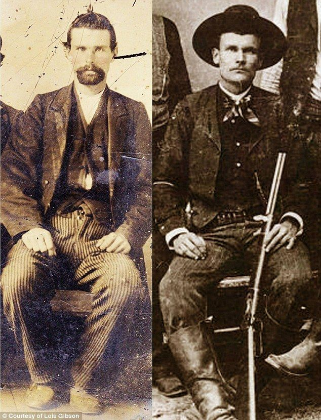 The image (left, compared to another image of James, right) was passed down through several generations of a farming family who knew Jesse James and even harbored him while he was on the run in 1870s