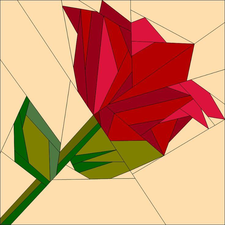 3088 best images on pinterest quilt patterns quilting valentines rose paper piecing mightylinksfo