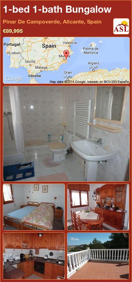 1-bed 1-bath Bungalow in Pinar De Campoverde, Alicante, Spain ►€89,995 #PropertyForSaleInSpain