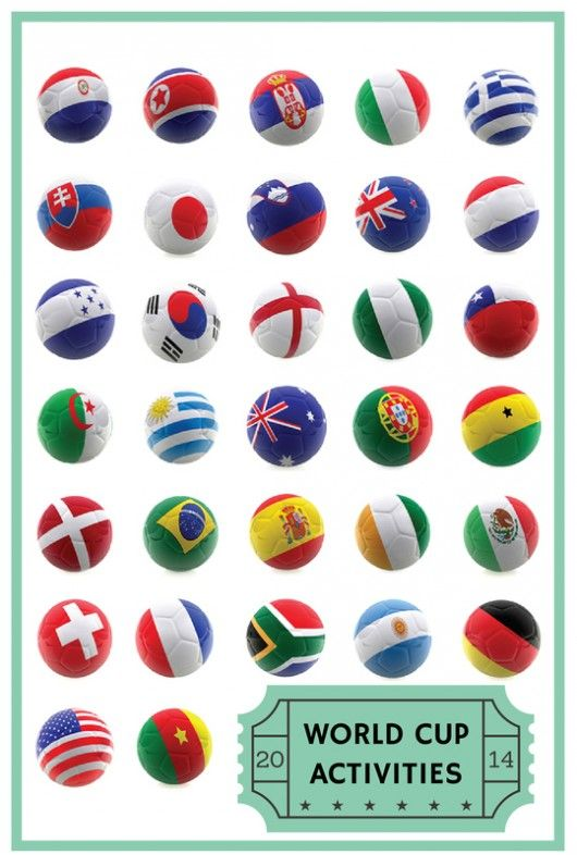 Do your kids love the World Cup? Print out all the flags from the countries in the FIFA World Cup 2014 and colour them in, plus lots of other world cup kids activities ideas