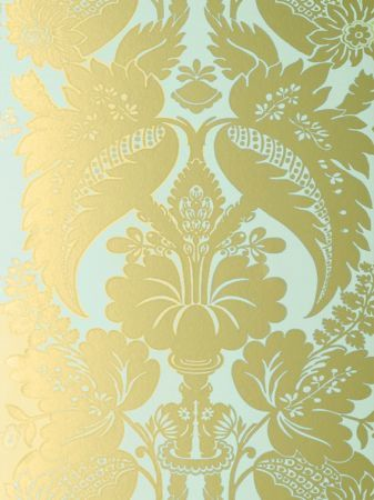 Duck egg blue - so soothing: Anna French Glamour Tyntesfield Duck Egg Blue and Gold - TYNWP078 Wallpaper