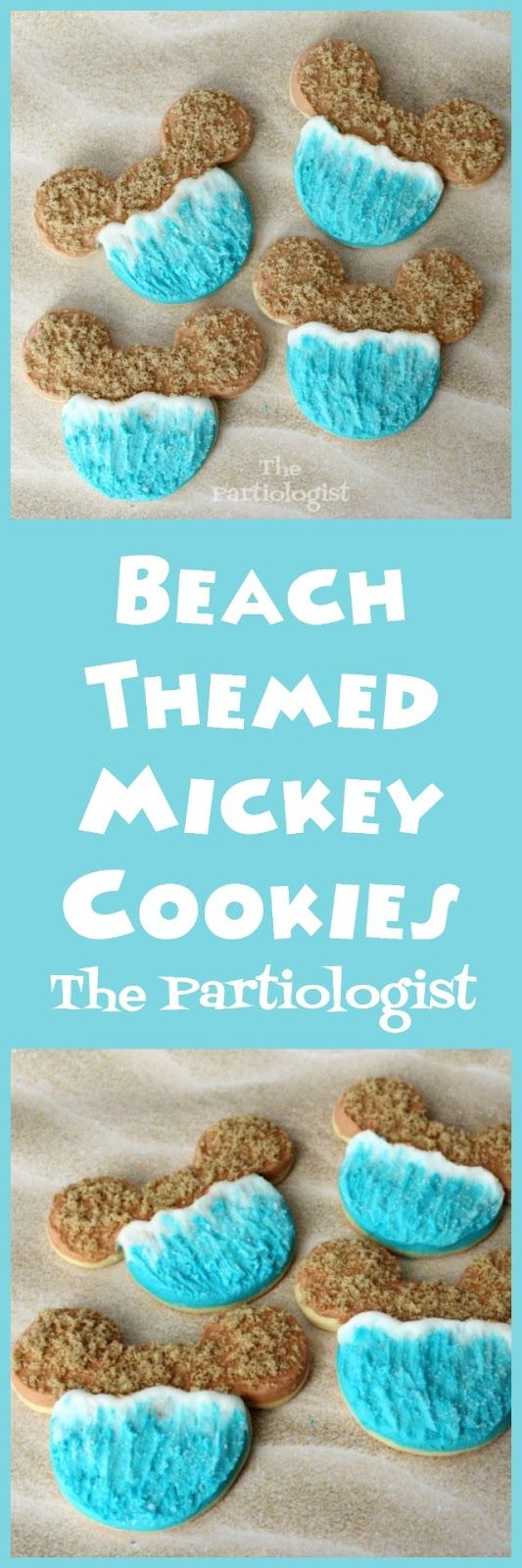 Beach Themed Mickey Mouse Cookies!