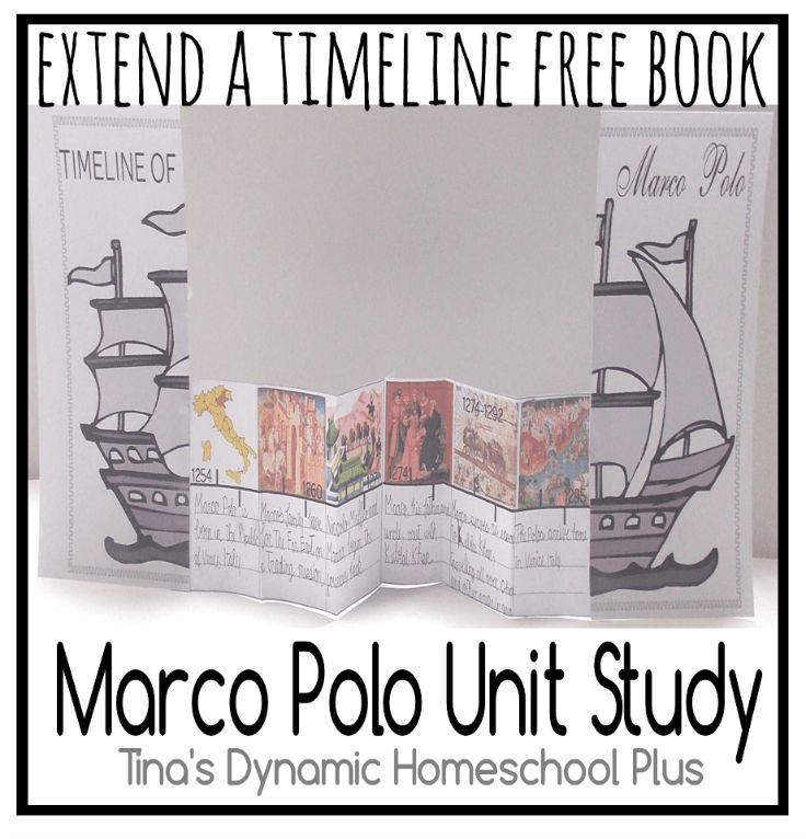 Free Extend a Timeline Book Marco Polo Unit Study from Tina's Dynamic Homeschool Plus.
