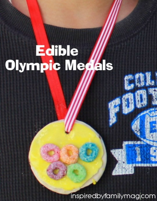 edible olympic medals & more at the Kids Bloggers Go Olympics blog hop