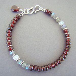 Garnet-Rainbow-Moonstone-Labradorite-925-Sterling-Silver-Bracelet