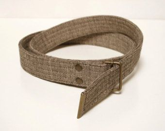 Brown Fabric Belt : Organic and Fair Trade. Vegan belt, cotton belt, men belt, vegan gift, women belt, organic clothing, fair trade clothing