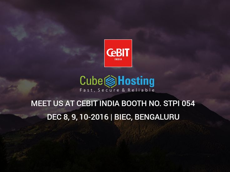 Feel free to meet us at CeBIT 2016 from 8th to 10th December 2016 in Bengaluru, India at booth no STPI 054. Being an IT trade fair, this is the finest opportunity for us to know one another very well. Don't miss the opportunity and we look forward to meeting you at the venue.