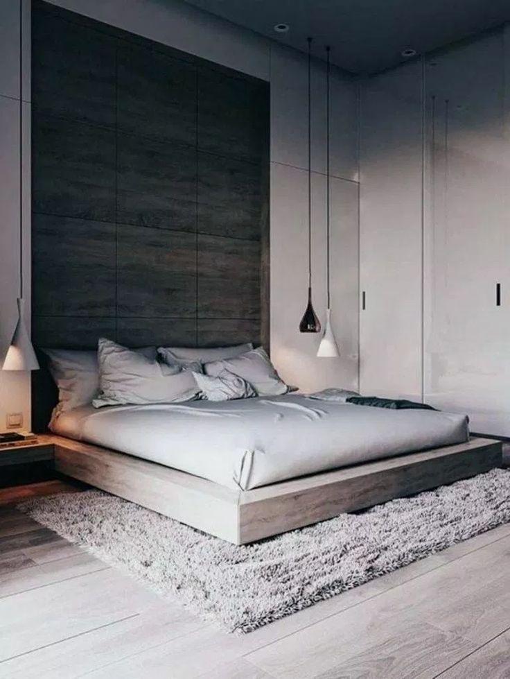 25+ Stunning Minimalist Modern Master Bedroom Design Best Ideas #minimalistbedro…