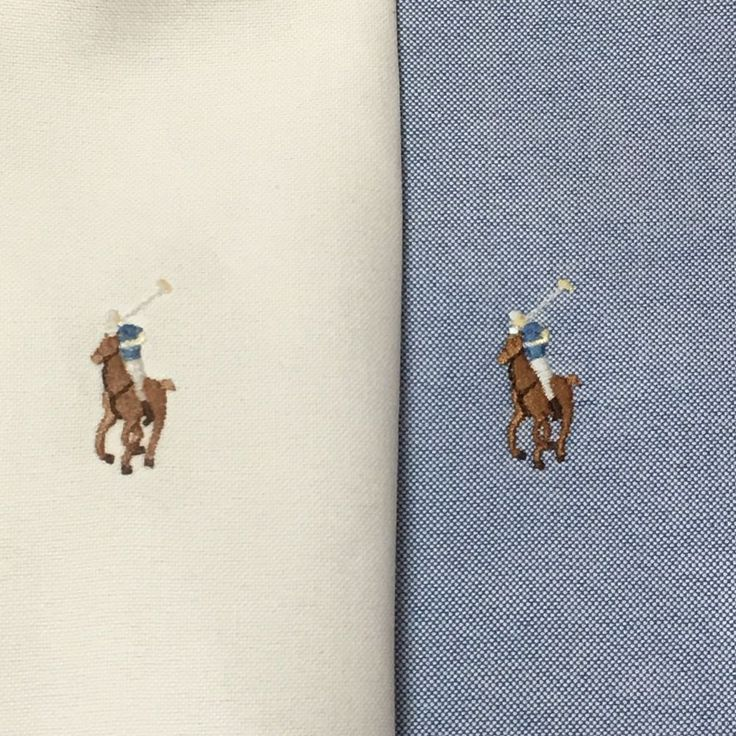 Ralph Lauren Classic Fit Oxford Shirts 18 34/35 Blue Off White Lot of 2 Pony Big #RalphLauren #ButtonFront