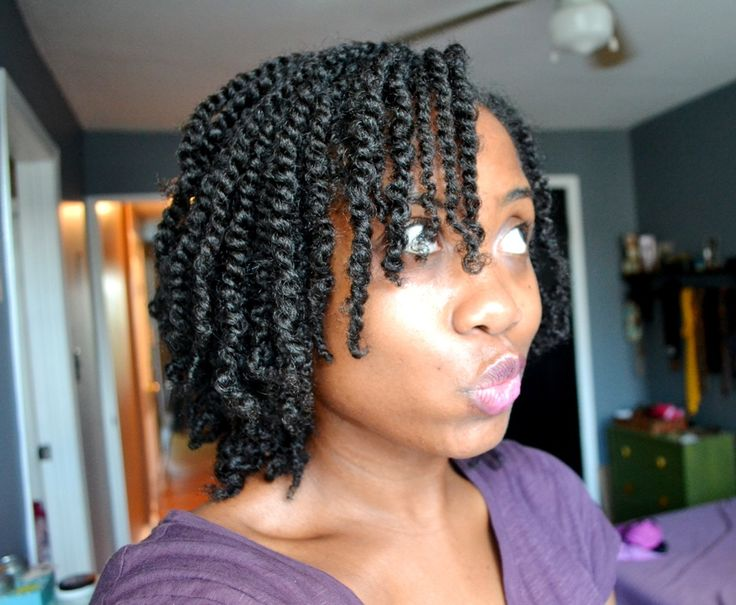 Love the length of this two-strand twist style...beautiful!