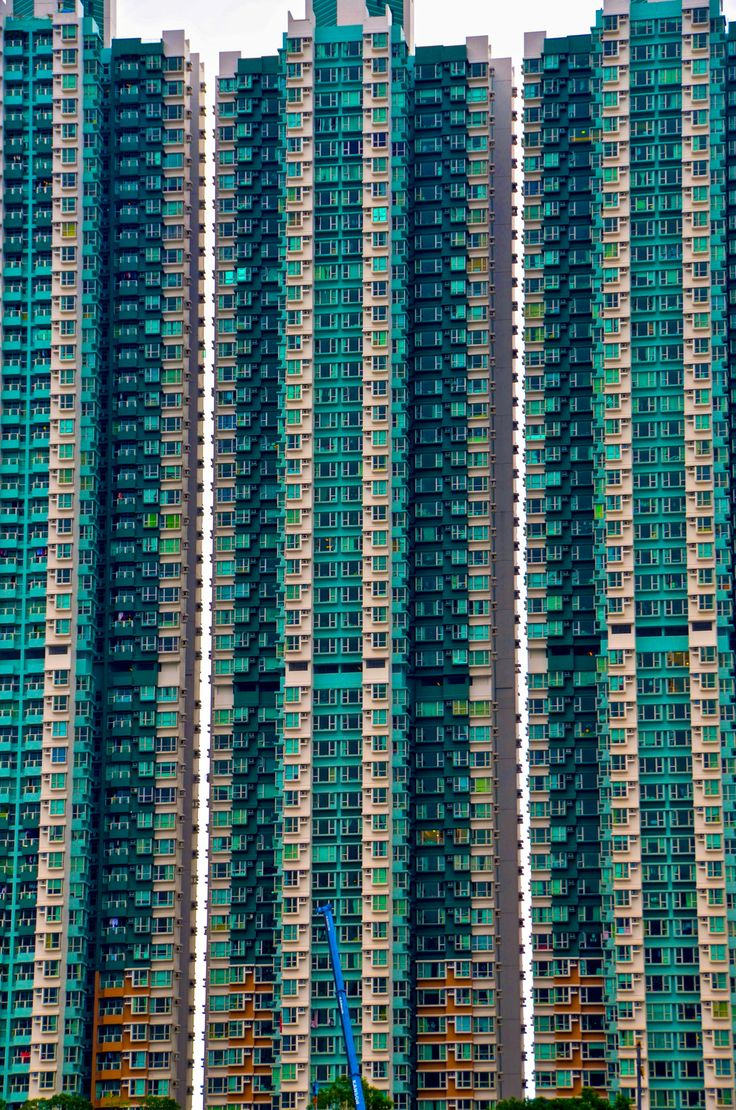Dormitory towers - Amazing buildings in Aberdeen harbour near Hong Kong.