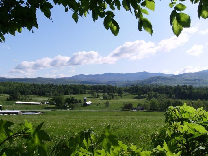 Brandon, VT - classic Vermont view from farms to forest to mountains