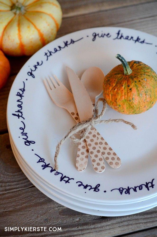 Easy DIY Thanksgiving Plates   simplykierste.com