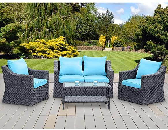 Patio Conversation Sets In 2020 Conversation Set Patio Furniture Sofa Set Patio Furniture Sets