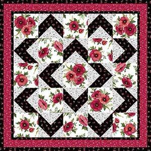 This would be good with Patriotic fussy-cuts and red/white/blue chevrons for lap quilts.
