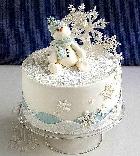 Little snowman | Snowman out ouf modelling fondant, snowflak… | Flickr