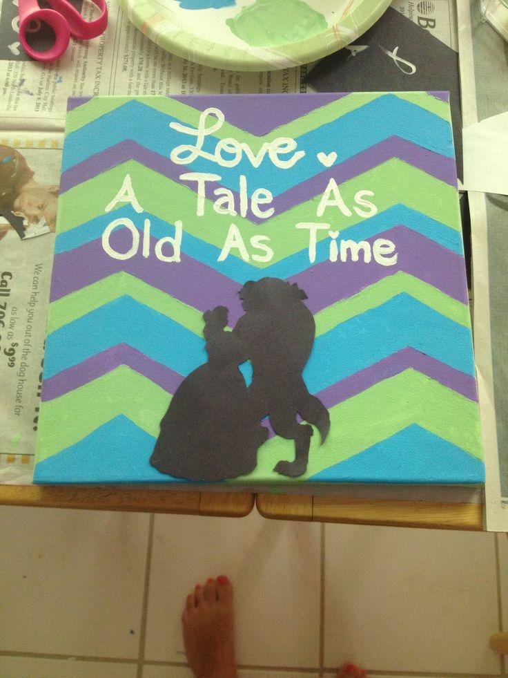 Disney canvas quote