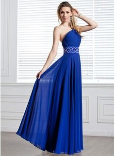 Prom Dresses - $176.99 - A-Line/Princess One-Shoulder Floor-Length Chiffon Evening Dress With Ruffle Beading  http://www.dressfirst.com/A-Line-Princess-One-Shoulder-Floor-Length-Chiffon-Evening-Dress-With-Ruffle-Beading-017004344-g4344