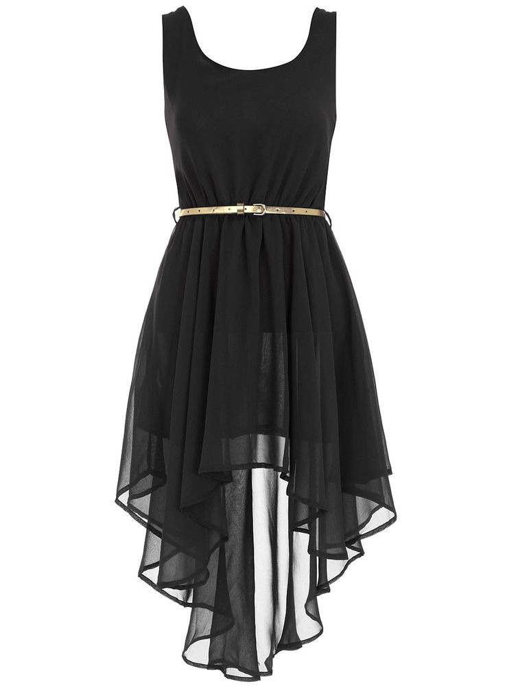 Aysmmetric black dress. - Little Black Dresses - Dresses - Dorothy Perkins United States