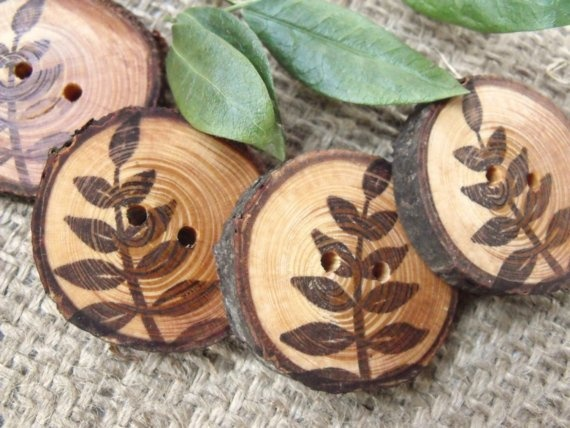 Fern Wooden Button...LOVE LOVE LOVE THESE TOO~  **HAVE!***