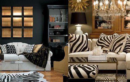 Zebra Print Living Room Decor Photo