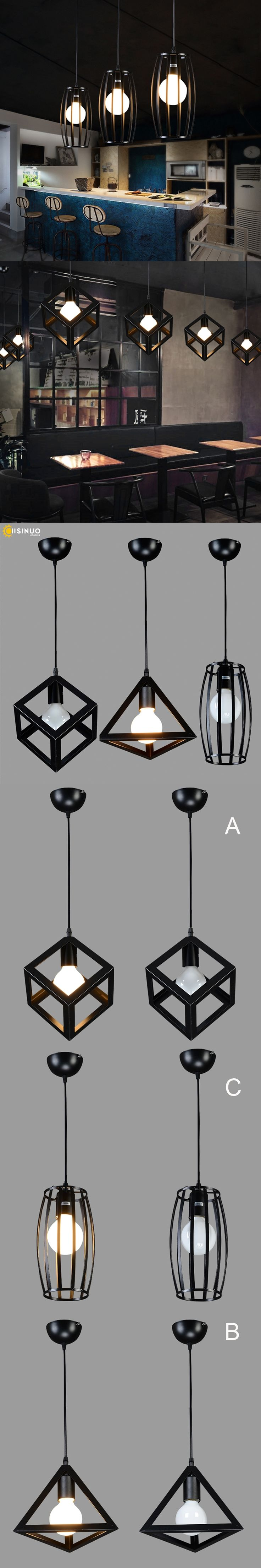 Vintage Modern chandelier E27 lamp 220v for decor Iron Loft industrial rope pendant American Village Style suspension luminaire