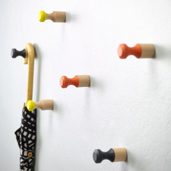 Wooden wall pegs | Collected by LeeAnn Yare cabin