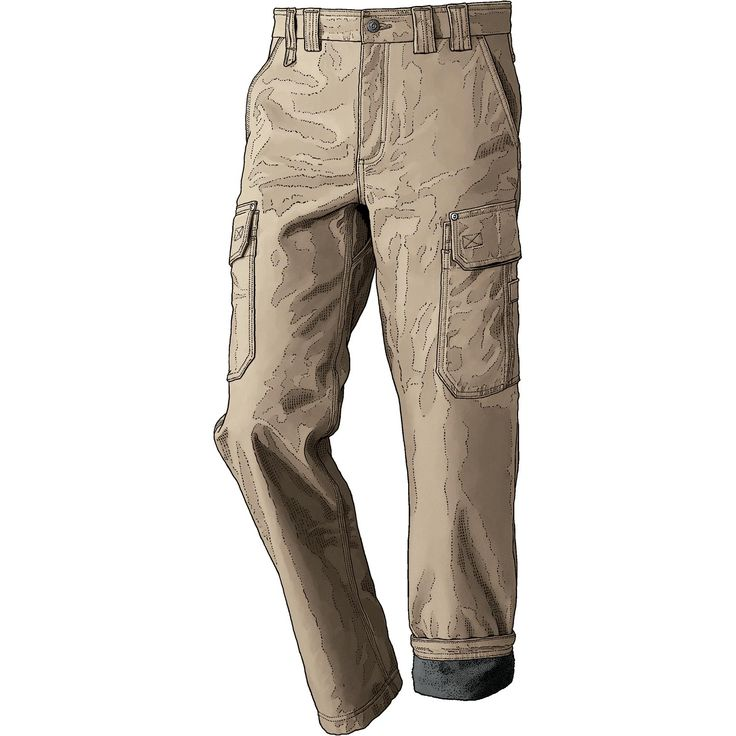 When temperatures plummet, grab a pair of men's DuluthFlex Fire Hose Bonded Fleece Work Pants for bulk-free warmth with flex-to-the-max freedom. 36 waist, 32 inseam, barley
