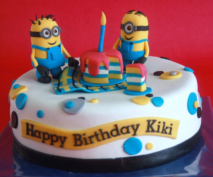 Wollie's World of Cakes: Minion taart!