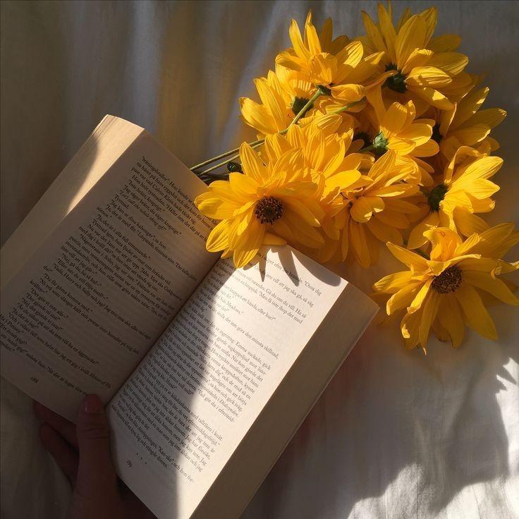 Bild über Blume in Buch ist Freiheit von Jung Kyung-Soon