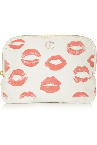 Printed cotton-canvas makeup bag #bag #women #covetme #charlottetilbury