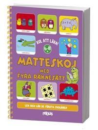 Det är kul att lära!Matteskoj är ett spiralbundet häfte på hela 128 sidor.Ett häfte fullspäckat med roliga uppgifter som passar för flickor och pojkar i de tidiga skolåren.Uppgifterna har stigande svårighetsgrad och utvecklar barnets matematiska tänkande och ger träning i alla de fyra räknesätten.- Addition och subtraktion.- Multiplikation och division.- Räknelekar i alla räknesätt. Detta är en nyare upplaga av Matteskoj och i stort sett samma innehåll som i den gamla.  (ISBN: 9789173971157)
