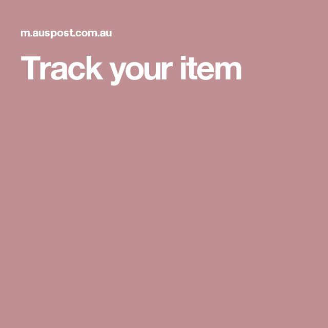 Track your item