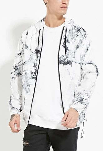 Marble Print Windbreaker | 21 MEN #forever21men
